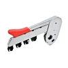 Picture of PK 1500-0001938 NK (nickle chrome plated with new knob) weighting arm with 4 roller drafting for roving frame