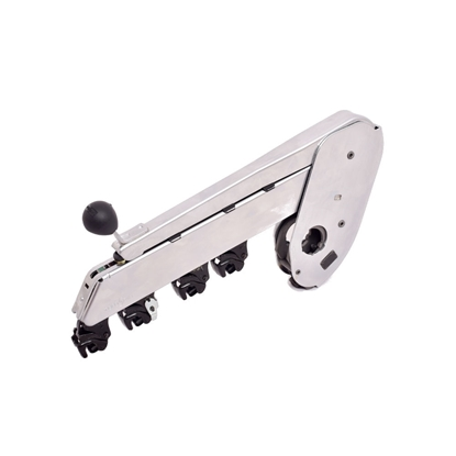 Picture of PK 1500-0001940 NC (nickle chrome plated) weighting arm with 4 roller drafting for roving frame