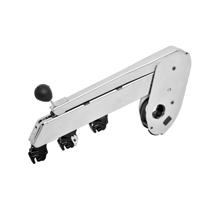 Picture of PK 1500-0962602 NC (nickle chrome plated) weighting arm with three roller drafting for roving frame