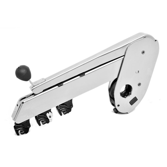 Picture of PK 1500-0962604 NC (nickle chrome plated) weighting arm with three roller drafting for roving frame - short cradle