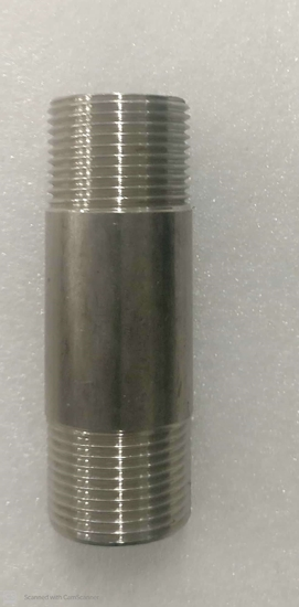 """Picture of Pipe nipple - 3/4"""" x 3"""" - SS"""